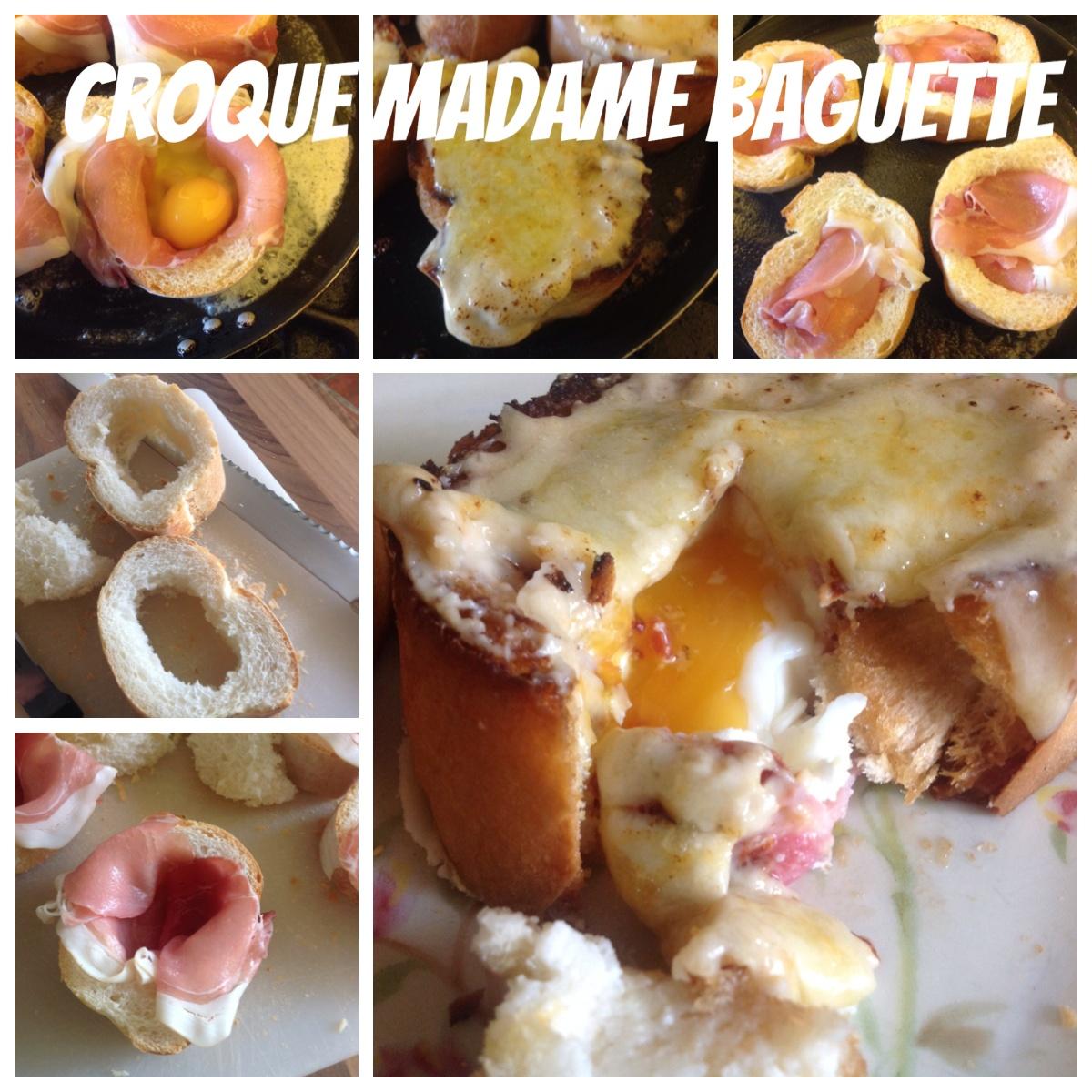 Croque Madame Baguette