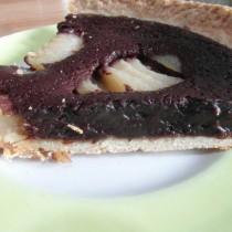 Chocolate & Pear Tart