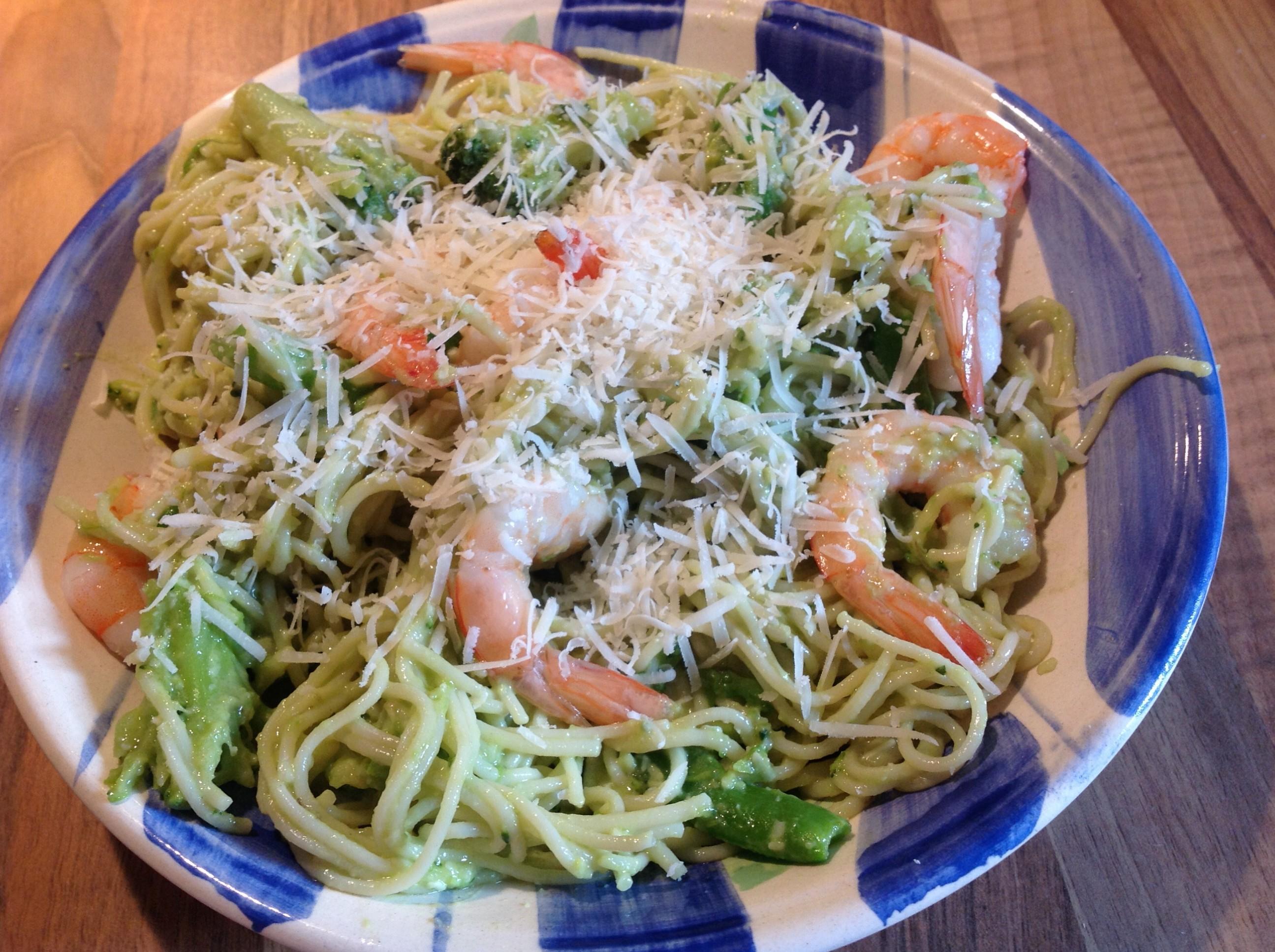 Prawn & Avocado Spaghetti